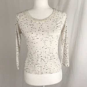Calvin Klein Jeans- Gauzy top with lace detail, XS